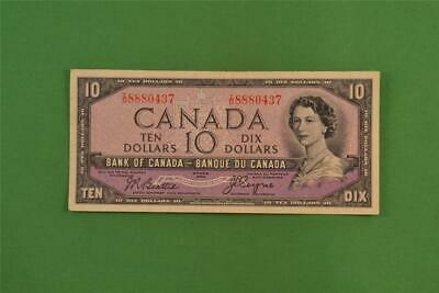 1954 Bank of Canada 10 Dollar Devils Face Note Beattie Coyne TD 8880437