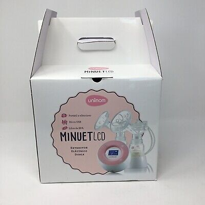 Minuet LCD Double Breast Pump by Unimom Open Box Pink White