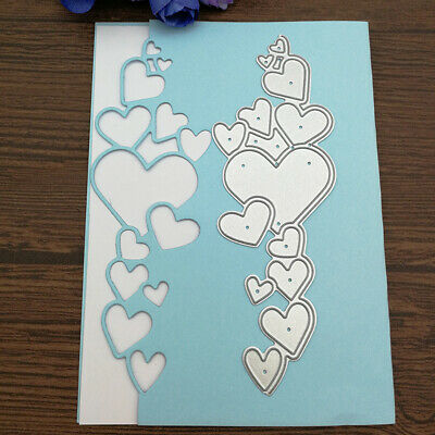 Romantic Love Heart Metal Cutting Dies Scrapbooking Paper Cards Stencil Salable