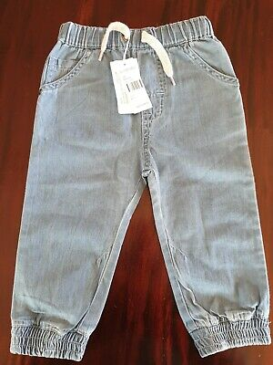 Purebaby Boys denim Jogger Pants Size1
