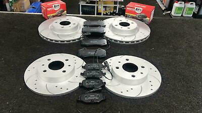 BRAKE DISC FRONT REAR DRILLED GROOVED MINTEX PAD FIAT 500 Abarth 1.4i TURBO