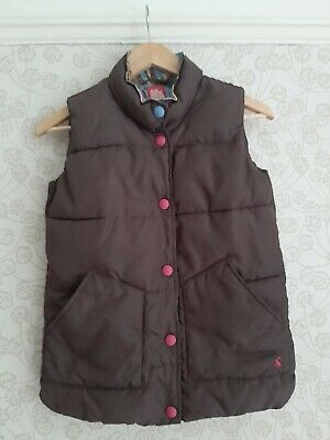 Girls quilred Joules Brown/ Pink Waistcoat Gilet 11 - 12 Years