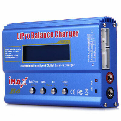 iMAX B6 LCD Screen 80W Digital RC Lipo NiMh Battery Balance Charger Adapter NEW