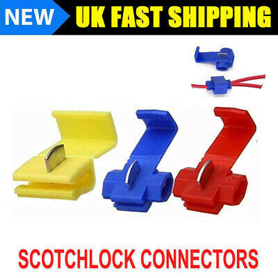 Scotch Lock Wire Connectors Quick Splice Scotchlok Electrical Cable Joints Crimp