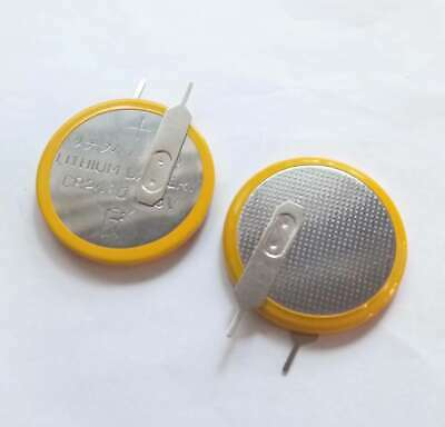 2 X 3V 300mAh Tabbed CR2430 Coin Cell Button Battery With Solder 2 Tabs / Pins