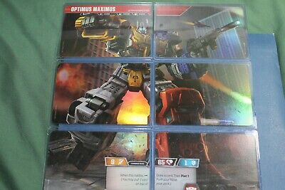 Transformers TCG Rise of the Combiners 1x OPTIMUS MAXIMUS COMBINER Card Set