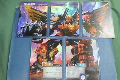 Transformers TCG Rise Combiners Predaking 5 Card Set!!  Wave 2