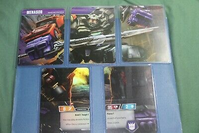 Transformers TCG Rise Combiners Wave 2 Menasor 5 Card Set Stunticon