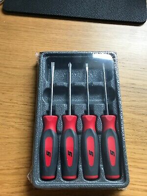 Snap On Mine Screwdriver Set In Red Hard Handles NEW