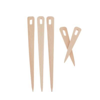 5x Wood Hand Loom Stick Wooden Shuttle Tapestry Weaving Knit Handcrafts Tool
