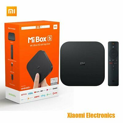 Xiaomi Mi Box S 4K HDR Android TV with Google Assistant Remote Streaming wa