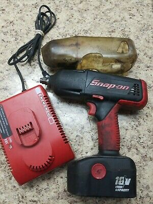 "Snap-On 18V 1/2"" Cordless Impact Wrench CT4850HO  W/ Battery and Charger used"
