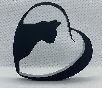 Cat in Heart Shape Home Ornament