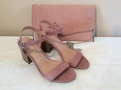 VGC Girls New Look Pink suede effect sandals size 5/38, 915 Generation + bag