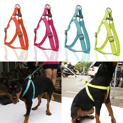 Reflective Nylon Dog Pet Harness Leads Leash Set for Dog Puppy Walking S M L XL