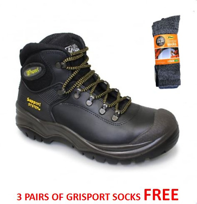 Grisport Mens Contractor S3 Safety Work Boots Steel Toe - FREE SOCKS