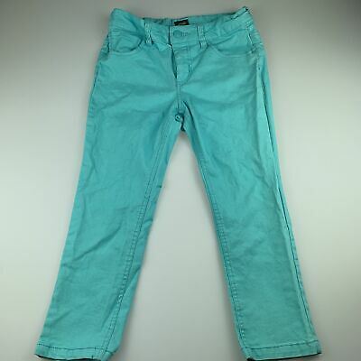 Girls size 12, Urban, blue stretch cotton cropped pants, adjustable, GUC