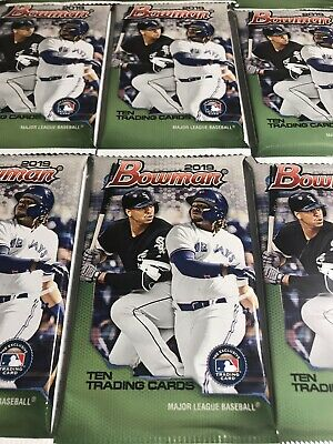 20 Pack Lot 2019 Bowman Baseball MEGA Box Retail Chrome Prospect Wander Franco