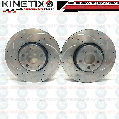 FOR BMW 530d M SPORT FRONT DRILLED GROOVED PERFORMANCE BRAKE DISCS PAIR 348mm
