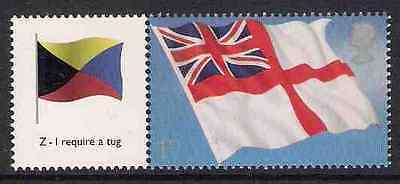 GB 2005 sg LS25 The White Ensign Smiler Sheet Single Stamp With Label Litho MNH