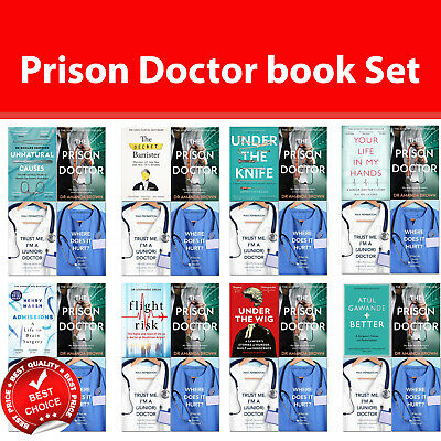 Prison Doctor books set Unnatural Causes, Secret Barrister, Under the Wig,Better