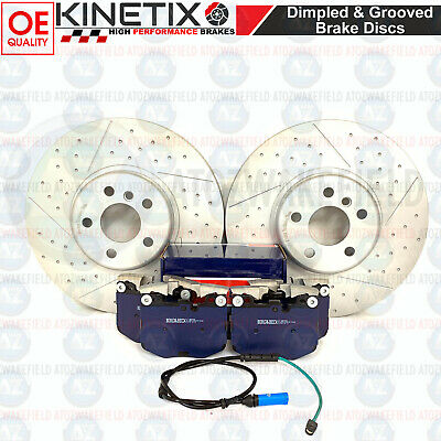 FOR BMW 530d xDrive FRONT DRILLED GROOVED PERFORMANCE BRAKE DISCS PADS 348mm