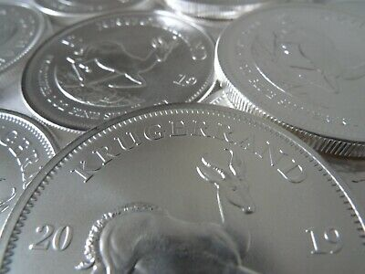 10 Krugerrand silver bullion coins - New 2019 issues 10x 1 oz coins