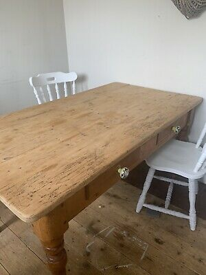 Large Antique Wooden Kitchen/ Dining Table