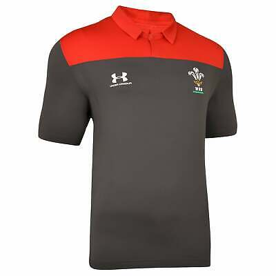 Under Armour Wales Rugby Polo Shirt 2019-2020 - Jet