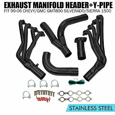 STAINLESS STEEL HEADER+Y-PIPE FOR 02-06 CHEVY//GMC GMT800 8CYL EXHAUST//MANIFOLD