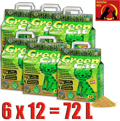 Green Cat Klumpstreu 6x12 = 72 L Best Cat`s Öko-Plus Streu Katzenstreu GreenCat