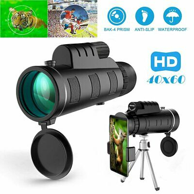 Day Night Vision 40X60 HD Optical Monocular Hunting Camping Hiking Telescope US