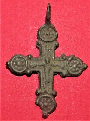 Ancient Bronze RARE!!! Cross! Kievan Rus'! XI-XIV century
