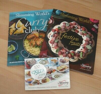 Slimming World Recipe Books Curry Club Festive Feasts 100 Extra Easy Days Bundle
