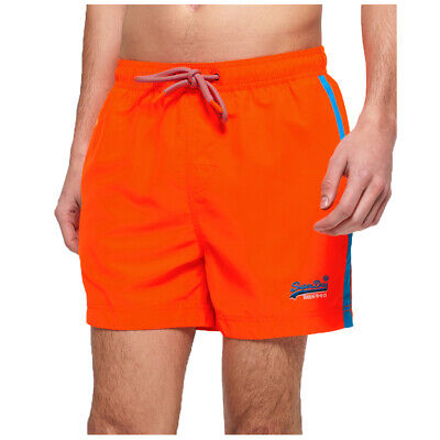 Superdry NEW Men's Beach Volley Swim Short - Sunblast Orange BNWT