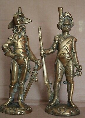 Antique/Vintage Solid Brass Figures - NAPOLEON and DRAGOON French Gentleman