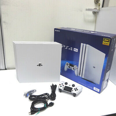 PS4 Pro Game Console Glacier White HDD 1TB Japan Sony PlayStation 4 Excellent