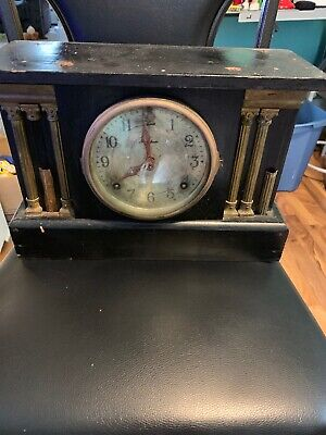 Antique Vintage E. Ingraham Co. Mantle Clock - Made in USA