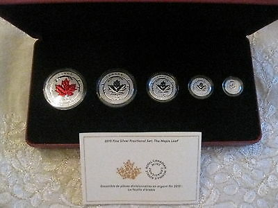 Canada 2015 Fine Silver Incuse Fractional Set - Maple Leaf  Mintage: 9,999