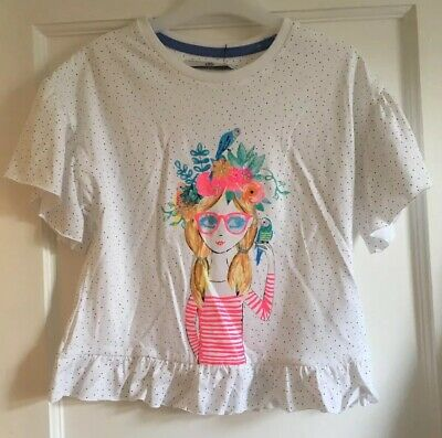 BNWT Girls Cropped Pretty Summer Top By M&S Age 8-9 Years