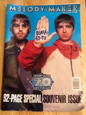 Melody Maker Magazine 70th Anniversary Issue ~ April 1996 ~Oasis On Cover ~RARE!