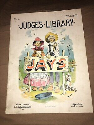 Antique Judge's Library Politcal Comic Book August 1895