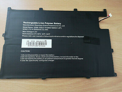 Linx 12X64 Tablet Replacement BATTERY PACK 33.3wH 9000MAH 3.7V TESTED WORKING