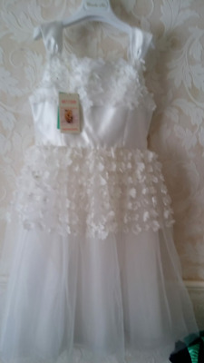 "Girls Monsoon ""ARTISAN Flowers"" Ivory Party Bridesmaid Dress Age 11 years"