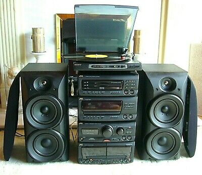 Quality JVC Hi-Fi System with Speakers and Sony Turntable