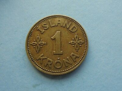 Iceland, Krona, 1940, in Good Condition.