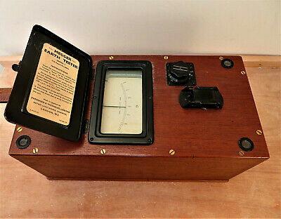 MEGGER SERIES 1 EARTH TESTER VINTAGE EVERSHED & VIGNOLES Ltd in excl cond.