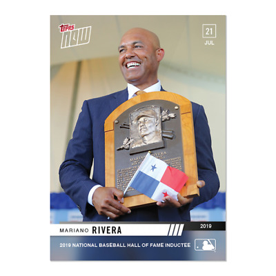 2019 Topps NOW 549 Mariano Rivera New York Yankees Hall Of Fame Inducted