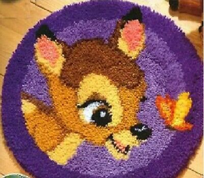 DIY Disney's Bambi Make your own Purple Rug Latch Hook Kit Unique gift UK New
