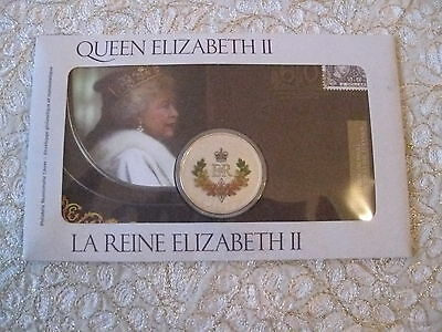 Canada 50-Cents coin and stamp set Queen Elizabeth II 60 Year Anniversary